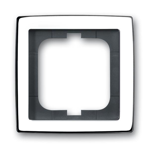 Rámček pre elektroinstalačné prístroje, jedno násobný, Solo®, chrómová lesklá