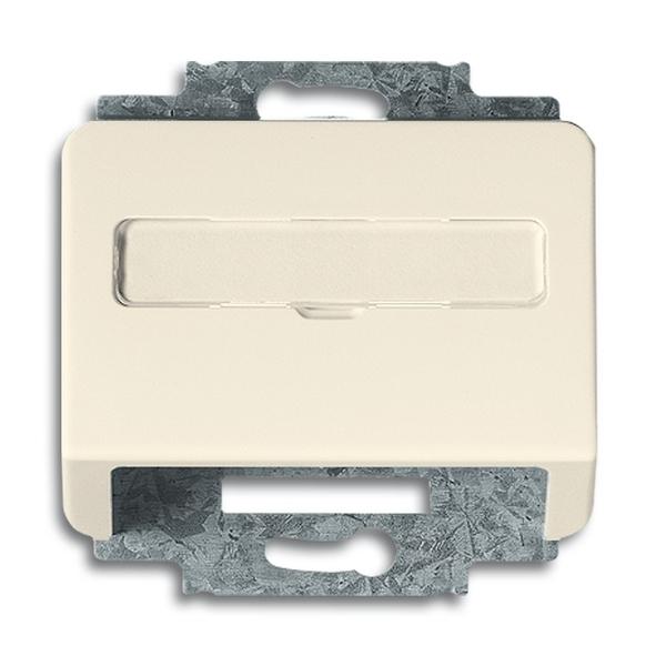 Kryt zásuvky komunikačnej s popisovým poľom, Alpha exclusive®, slonová kosť