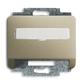 Kryt zásuvky komunikačnej s popisovým poľom, Alpha exclusive®, palládium