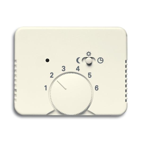 Kryt termostatu, s otočným ovládačom a posuvným prepínačom, Alpha exclusive®, slonová kosť