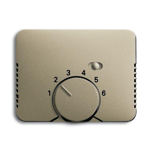 Kryt termostatu, s otočným ovládačom a posuvným prepínačom, Alpha exclusive®, palládium