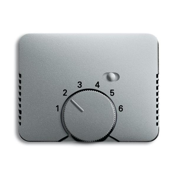 Kryt termostatu, s otočným ovládačom a posuvným prepínačom, Alpha exclusive®, titánová