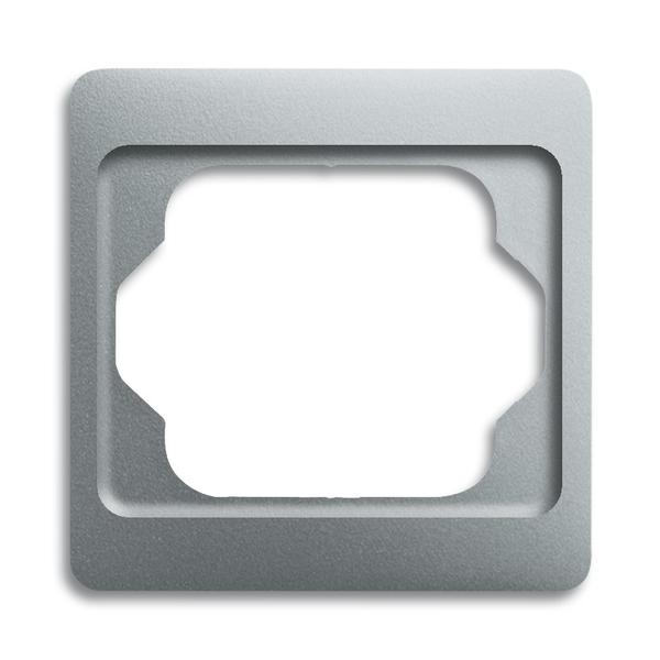 Rámček pre elektroinstalačné prístroje, jedno násobný, Alpha exclusive®, titánová