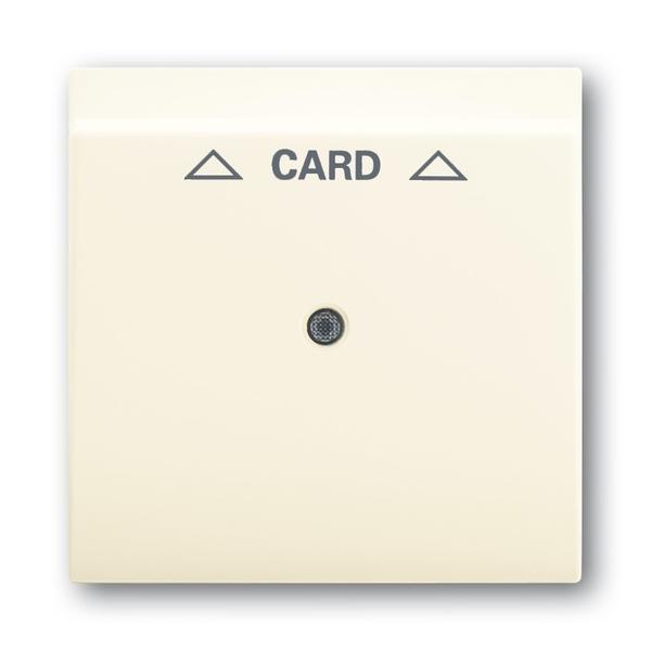 Kryt spínača kartového, s čírym priezorom, s potlačou, Impuls, slonová kosť