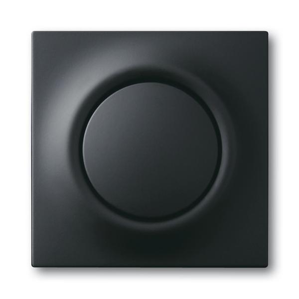 Kryt spínača tlačidlového s tlačidlovým ovládačom, s tlejivkou, Impuls, zamatová čierna