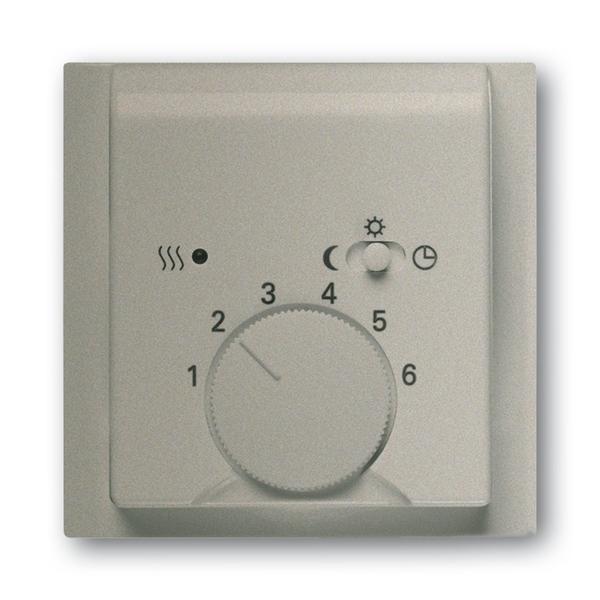 Kryt termostatu, s otočným ovládačom a posuvným prepínačom, Impuls, šampanská metalíza