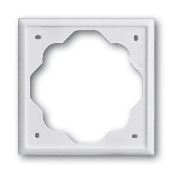 Rámček pre elektroinstalačné prístroje, jedno násobný, Impuls, alpská biela