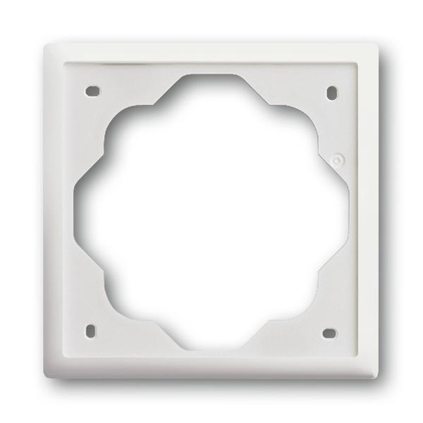 Rámček pre elektroinstalačné prístroje, jedno násobný, Impuls, zamatová biela