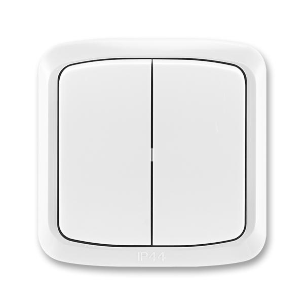 Prepínač sériový IP 44, zapustený, Tango®, biela