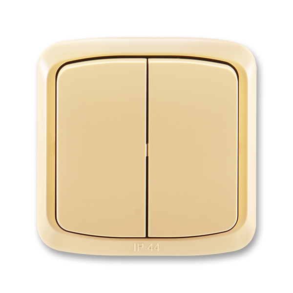 Prepínač sériový IP 44, zapustený, Tango®, béžová