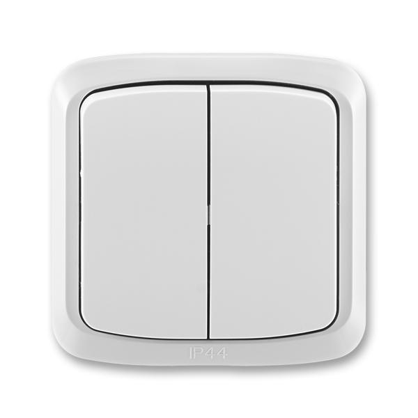 Prepínač sériový IP 44, zapustený, Tango®, šedá
