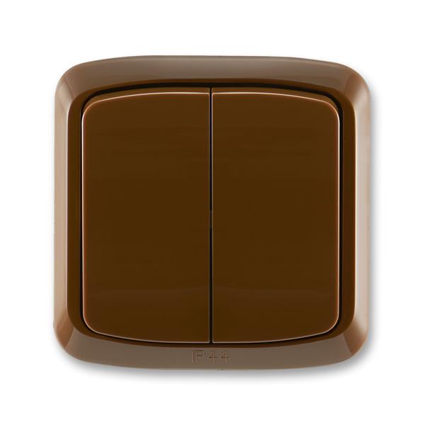 Prepínač sériový IP 44, zapustený, Tango®, hnedá