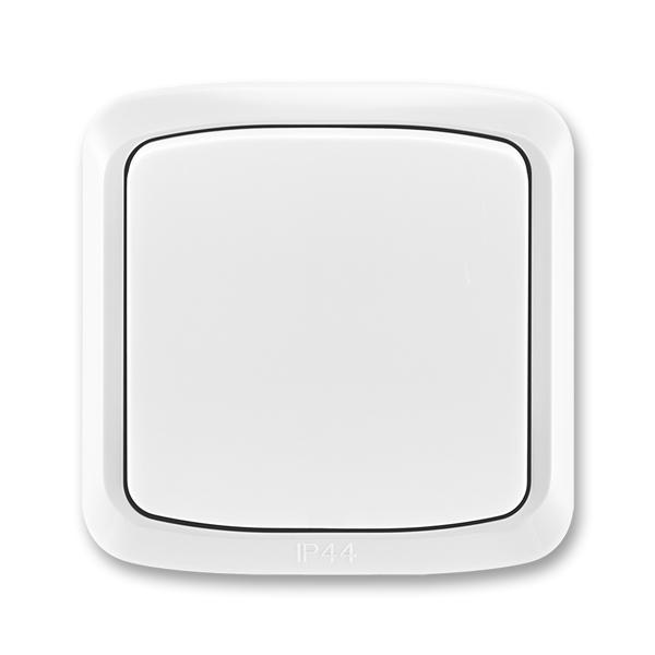 Prepínač striedavý IP 44, zapustený, Tango®, biela
