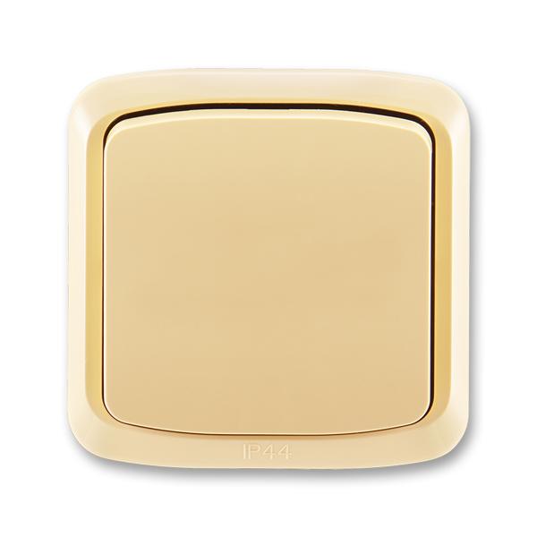 Prepínač striedavý IP 44, zapustený, Tango®, béžová