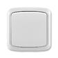 Prepínač striedavý IP 44, zapustený, Tango®, šedá