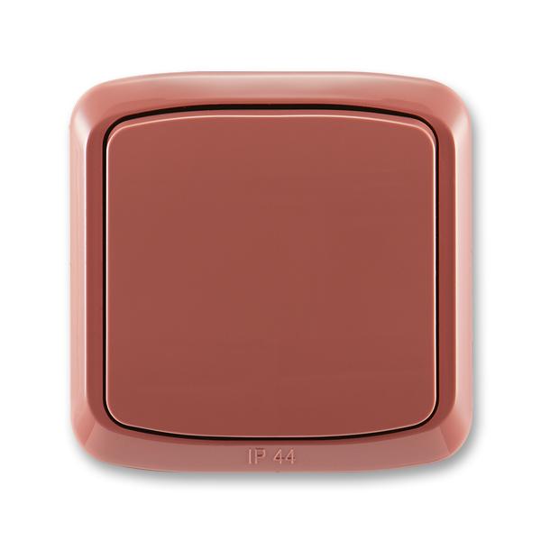 Prepínač striedavý IP 44, zapustený, Tango®, vresová červená
