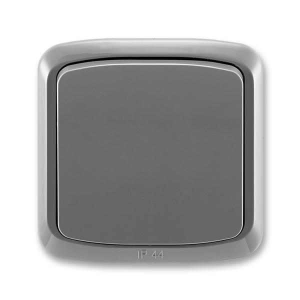 Prepínač striedavý IP 44, zapustený, Tango®, dymová šedá