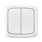 Prepínač striedavý dvojitý IP 44, zapustený, Tango®, biela