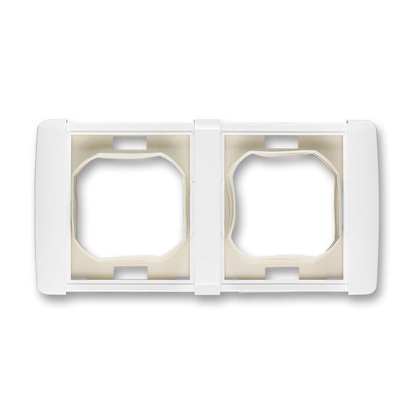 Rámček pre elektroinštalačné prístroje IP 44, dvoj násobný, Element®, biela