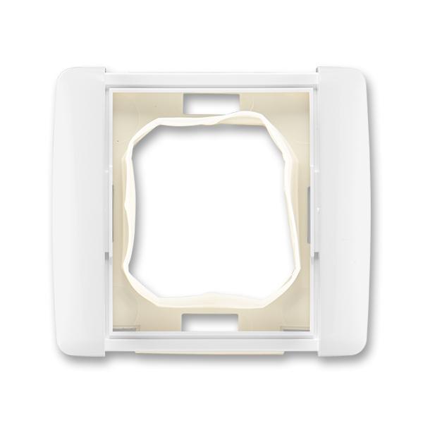Rámček pre elektroinštalačné prístroje IP 44, jedno násobný, Element®, biela