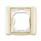 Rámček pre elektroinštalačné prístroje IP 44, jedno násobný, Element®, slonová kosť