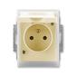 Zásuvka jednonásobná IP 44, s ochranným kolíkom, s clonkami, s viečkom, Element®, slonová kosť / ľadová biela