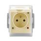 Zásuvka jednonásobná IP 44, s ochranným kolíkom, s clonkami, s viečkom, s ochranou pred prepätím, Element®, slonová kosť / ľadová biela
