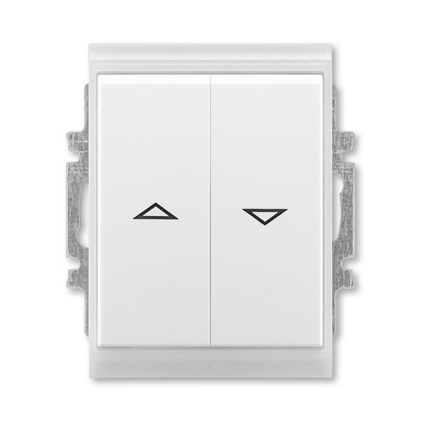 Ovládač žalúziový jednopólový IP 44, zapustený, Time®, Element®, biela / ľadová biela