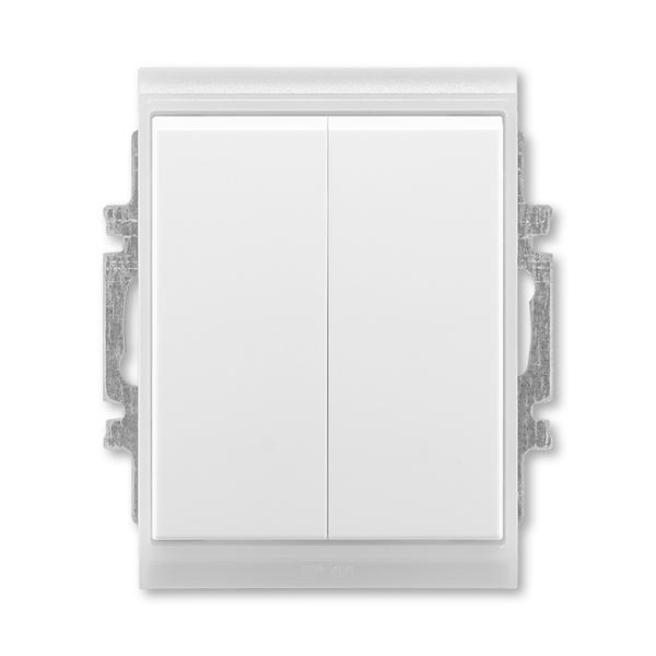 Prepínač sériový IP 44, zapustený, Time®, Element®, biela / ľadová biela
