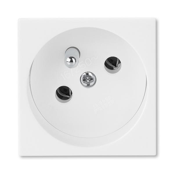 Zásuvka 45x45 s ochranným kolíkom, Profil 45, biela (RAL 9010)