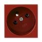 Zásuvka 45x45 s ochranným kolíkom, Profil 45, karmínová (RAL 3003)