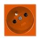 Zásuvka 45x45 s ochranným kolíkom, Profil 45, oranžová (RAL 2004)