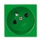 Zásuvka 45x45 s ochranným kolíkom, Profil 45, zelená (RAL 6018)