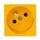 Zásuvka 45x45 s ochranným kolíkom, Profil 45, žltá (RAL 1018)