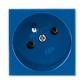 Zásuvka 45x45 s ochranným kolíkom, Profil 45, modrá (RAL 5005)