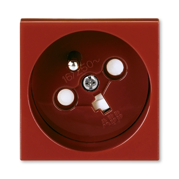 Zásuvka 45x45 kódovaná s ochranným kolíkom, s clonkami, Profil 45, karmínová (RAL 3003)