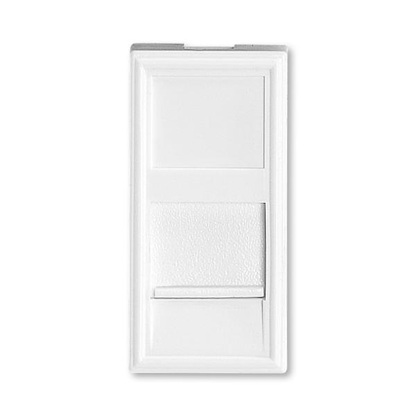 Modul zásuvkový 22,5x45 so záclonkou, Profil 45, biela