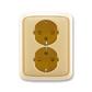 Zásuvka dvojnásobná s ochrannými kontaktmi (podľa DIN), s clonkami, Tango®, béžová
