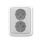 Zásuvka dvojnásobná s ochrannými kontaktmi (podľa DIN), s clonkami, Tango®, šedá
