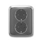 Zásuvka dvojnásobná s ochrannými kontaktmi (podľa DIN), s clonkami, Tango®, dymová šedá