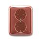 Zásuvka dvojnásobná s ochrannými kontaktmi (podľa DIN), s clonkami, Tango®, vresová červená
