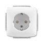 Zásuvka jednonásobná s ochrannými kontaktmi (podľa DIN), s clonkami, Tango®, biela