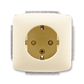 Zásuvka jednonásobná s ochrannými kontaktmi (podľa DIN), s clonkami, Tango®, slonová kosť