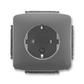 Zásuvka jednonásobná s ochrannými kontaktmi (podľa DIN), s clonkami, Tango®, dymová šedá