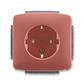 Zásuvka jednonásobná s ochrannými kontaktmi (podľa DIN), s clonkami, Tango®, vresová červená