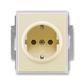 Zásuvka jednonásobná s ochrannými kontaktmi (podľa DIN), s clonkami, Element®, slonová kosť / ľadová biela