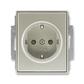 Zásuvka jednonásobná s ochrannými kontaktmi (podľa DIN), s clonkami, Time®, Time® Arbo, starostrieborná