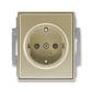 Zásuvka jednonásobná s ochrannými kontaktmi (podľa DIN), s clonkami, Time®, Time® Arbo, šampanská