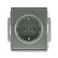 Zásuvka jednonásobná s ochrannými kontaktmi (podľa DIN), s clonkami, Time®, Time® Arbo, antracitová