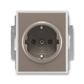 Zásuvka jednonásobná s ochrannými kontaktmi (podľa DIN), s clonkami, Time®, lungo / mliečna biela